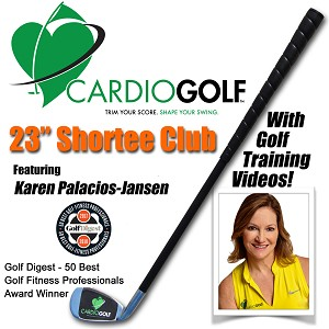 Cardiogolf Shortee Club with Golf Training Videos